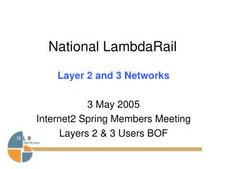 NLR L2 Services Summary