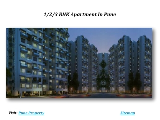 1/2/3 BHK Apartments In Pune