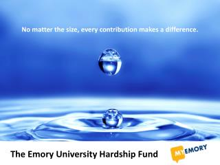The Emory University Hardship Fund