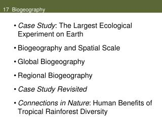17  biogeography