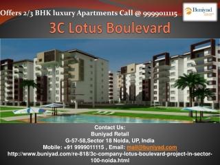 3C Lotus Boulevard Residential Apartments Noida Expressway