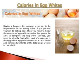 Egg White Calories