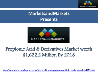 Propionic Acid and Derivatives Market-Global Trends and Fore