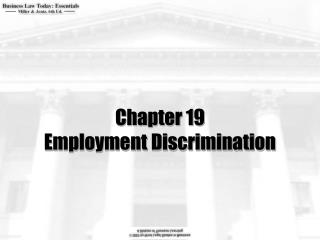 Chapter 19 Employment Discrimination