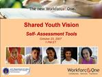 Shared Youth Vision Self- Assessment Tools