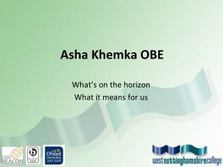 Asha Khemka OBE