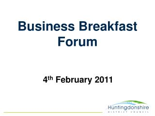 Business Breakfast Forum