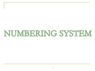 Digital Design: Number Systems