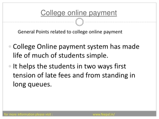 Useful Information about college online payment