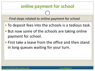 New search about online payment for school