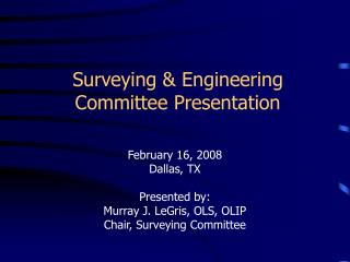 surveying  engineering committee presentation