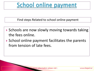 Local news about  school online paymnet