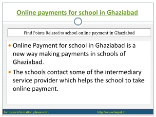 Participants in Online payment for school in Ghaziabad