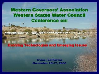 Western Governors  Association Western States Water Council Conference on: