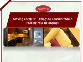 Moving Guide Checklist from MaxWell City Central