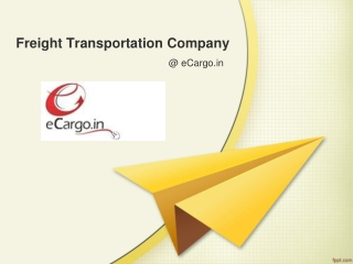 Freight Transportation Company Offering Competitive Rates