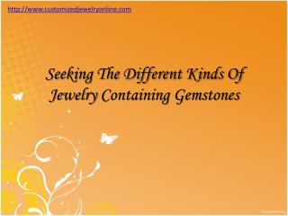 gemstones in different jewelries