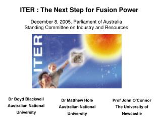 ITER : The Next Step for Fusion Power