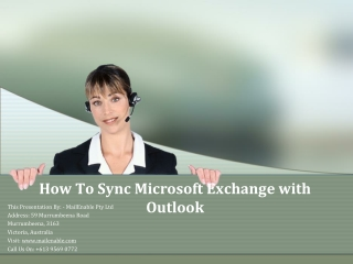 How to Sync Microsoft Exchange with Outlook
