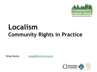 Localism   Community Rights in Practice