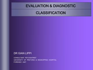 EVALUATION  DIAGNOSTIC