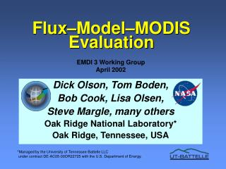 Flux Model MODIS Evaluation