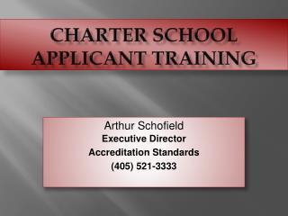 Charter School Applicant Training
