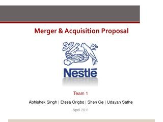 Merger  Acquisition Proposal