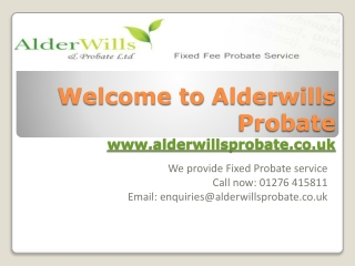 Alderwills Probate