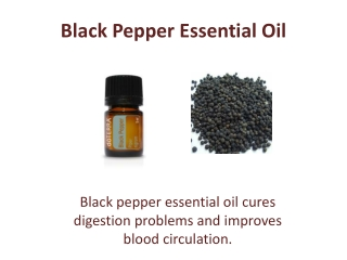 Buy Black Pepper Essential Oil