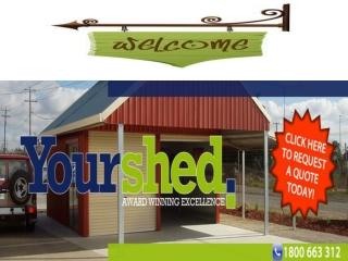 Custom Designs of Sheds for Sale