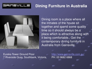 Dining Furniture in Australia