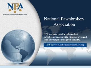 National Pawnbrokers Association offers Guidance to Pawnbrok