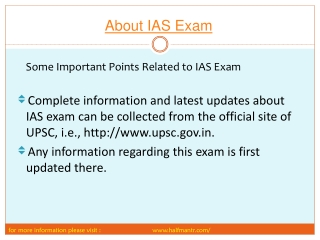 steps of about ias exam