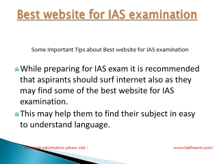 Steps of Best website for IAS examination