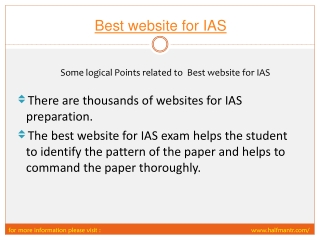 Steps of Best Website for IAS