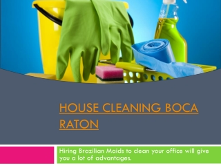 Cleaning Service West Palm Beach
