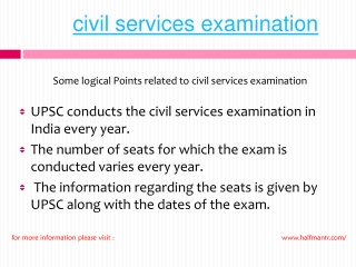 Steps of Civil Services examinaion