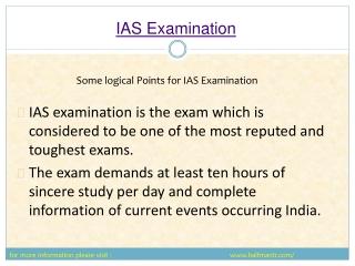 Steps of IAS Examination
