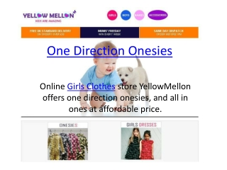 One Direction Onesies | Girls Clothes