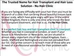 Hair Transplant for Men and Women in Liverpool UK