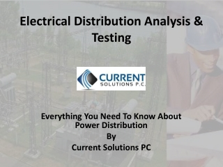 Electrical Distribution Analysis
