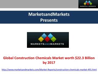 Global Construction Chemicals Market Analysis by MarketsandM