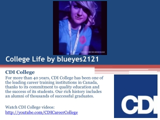 Life at CDI College on Instagram by blueyes2121 in Edmonton