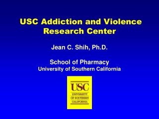 usc addiction and violence research center
