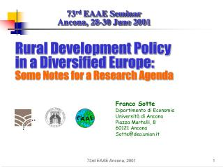 Rural Development Policy in a Diversified Europe: Some Notes for a Research Agenda