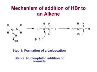 mechanism of addition of hbr to an alkene