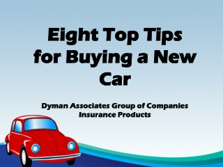 Eight Top Tips for Buying a New Car