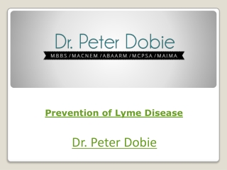 Prevention of Lyme Disease