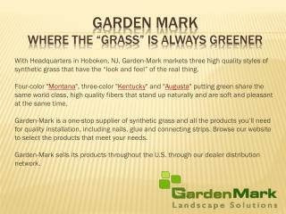 Synthetic turf - Garden Mark